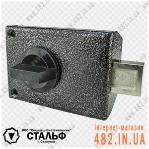 Накладной цилиндровий замок СЕЛЬМАШ (СТАЛЬФ) ЗН-067-01 (Двухсторонний английский ключ)