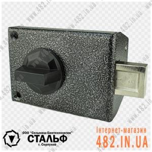 Накладной цилиндровий замок СЕЛЬМАШ (СТАЛЬФ) ЗН-067 (Крестообразный ключ)