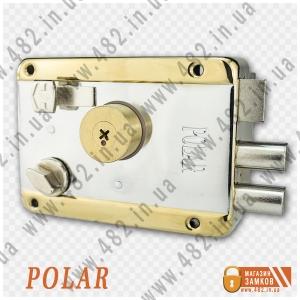 Замок накладной Polar 041 TP крест ключ
