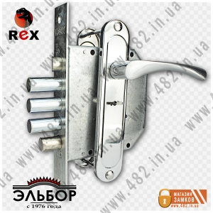 Врезной замок с ручками РЕКС (REX) 3.9 AL-42-23-R (правый)