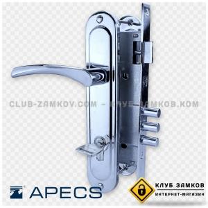 Врезной замок Apecs 220 с ручками и цилиндром