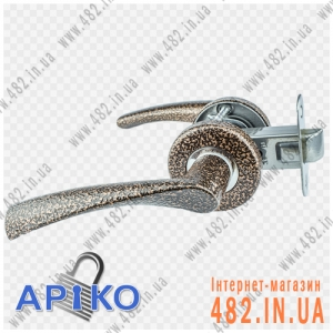 Ручка межкомнатная дверная Арико 114-5 (коричневая)